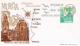 Spanien FDC 1826 Kathedrale Santa María Von Murcia - Architektur, Catedral, Cathedral - FDC