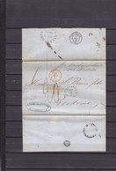 1852 LETTRE DE BATAVIA INDES NEERLANDAISES POUR BORDEAUX AVEC COURS DES MATIERES COMME LE CAFE - Nederlands-Indië