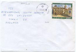1984 PADULA L. 450 ISOLATO BUSTA 7.6.84 PER FINLANDIA – RARA DESTINAZIONE E OTTIMA QUALITÀ (8843) - 6. 1946-.. Repubblica