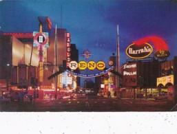 Nevada Reno Arch and Virginia Street At Night 1966