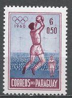 Paraguay 1960. Scott #557 (M) Goalkeeper Catching Soccer Ball - Paraguay