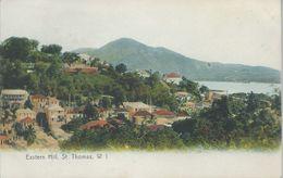 Danish West Indies, Scott #31 Pair On 1908 Eastern Hill, St. Thomas, Postcard, Very Fine - Danish West Indies