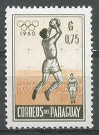 Paraguay 1960. Scott #558 (MNH) Goalkeeper Catching Soccer Ball - Paraguay