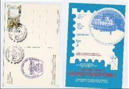 1990 Italy SAN MINIATO PHILATELIC EXHIBITION EVENT COVER Stamps Postcard - Esposizioni Filateliche