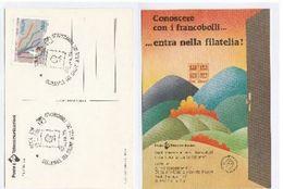 1986  Italy  PHILATELIC EXHIBITION EVENT COVER Stamps Postcard - Esposizioni Filateliche