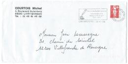 ENVELOPPE FLAMME LIVRY GARGAN PPAL / MARQUISE DE SEVIGNE / 1996 - Marcophilie (Lettres)