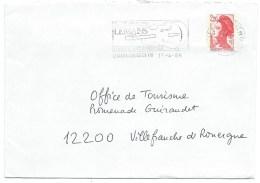 ENVELOPPE FLAMME LE MANS SARTHE CENTRE DE TRI / EUROPA JAZZ FESTIVAL / 1986 / GUITARE - Marcophilie (Lettres)