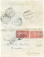 1926 S. FRANCESCO  C. 60 + ESPRESSO C. 70 BIGLIETTO POST.  19.6.26 AMBULANTI BELLA MONOCROMA ROSSA (8847) - 1900-44 Vittorio Emanuele III