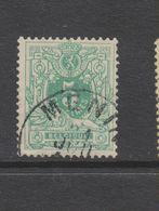 COB 45 Oblitéré MENIN Catalogue COBA +2 - 1869-1888 Lion Couché