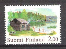 Finland 1977 Sauna At The Lake Mi 810 MNH(**) - Finlande