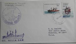AAT Macquarie 25/08/83 Anare +  Nella Dan - Territoire Antarctique Australien (AAT)