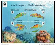 MONACO, 2016 ,MNH, WWF, FISH,  SHEETLET - Unclassified