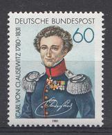Allemagne Rep.Fed. 1981  Mi.:nr. 1115 Todestag Von Carl Von Clausewitz  Neuf Sans Charniere / Mnh / Postfris - [7] République Fédérale