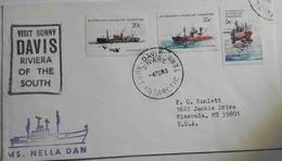 AAT Davis 4/02/83  +  Cachet Nella Dan + Cachet Davis - Territoire Antarctique Australien (AAT)