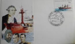 AAT Heard Island  1/11/85  +   Nella Dan + Cachet Davis - Territoire Antarctique Australien (AAT)