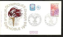 JEUX OLYMPIQUES  D  HIVER  1968 - FDC