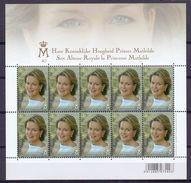 België - 2013    Volledig Postfris Velletje Van 10 Van Koningin Mathilde         OBP 4293 - Belgique