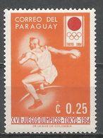 Paraguay 1964. Scott #792 (M) Summer Olympics Tokyo, Discus - Paraguay