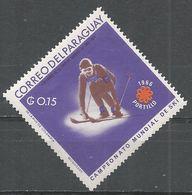 Paraguay 1966. Scott #987 (M) World Skiing Championships, Downhill Skiing - Paraguay
