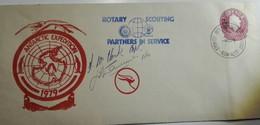 AAT Antarctic Expedition 1979 Sydney Airport 4/02/79 Rotary Scouting  + Signatures - Australian Antarctic Territory (AAT)