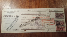 LETTRE DE CHANGE DE 1937 FABRIQUE DE CONSERVES TRUFFES DU PERIGORD - Bills Of Exchange