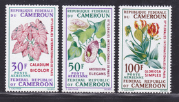 CAMEROUN AERIENS N°  130 à 132 ** MNH Neufs Sans Charnière, TB (D4501) Fleurs - Cameroun (1960-...)