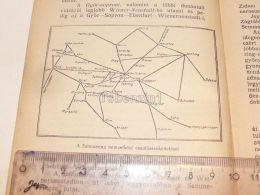 Bahn Map Karte Semmering Austria Hamburg Amsterdam Berlin Lemberg Odessa Budapest Bukarest Marseille Roma Neapel 1927 - Geographical Maps