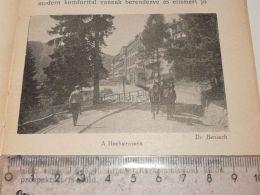Hochstrasse Semmering Austria Print Engraving Gravour 1927 - Stiche & Gravuren