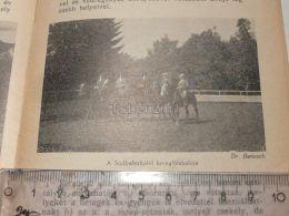 Südbahnhotel Pferd Schule Horse School Semmering Austria Print Engraving Gravour 1927 - Stiche & Gravuren