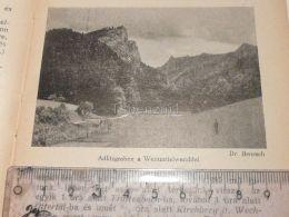 Adlitzgraben Weinzettelwand Semmering Austria Print Engraving Gravour 1927 - Stiche & Gravuren