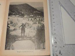 Liechtenstein Ski Sky Semmering Austria Print Engraving Gravour 1927 - Stiche & Gravuren