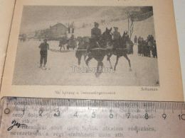 Ski Kjöring Horse Pferd Schlitten Ski Sky Semmering Austria Print Engraving Gravour 1927 - Stiche & Gravuren