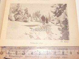 Kampalpe Ski Sky Semmering Austria Print Engraving Gravour 1927 - Stiche & Gravuren