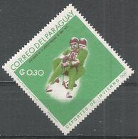 Paraguay 1966. Scott #989 (M) Winter Olympics Grenoble, 2-man Luge - Paraguay