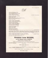 LIEGE ESNEUX Léon HALKIN Veuf COURTOY Professeur émérite Université De Liège 1872-1955 - Obituary Notices