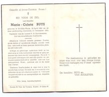 Devotie - Devotion - Marie Buys - Sint-Gillis-Waas 1864 - 1951 - Obituary Notices