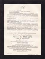 EVERBERG Frédéric Prince De MERODE Président De La Croix Rouge De Belgique 47 Ans 1958 Ordre De MALTE - Obituary Notices