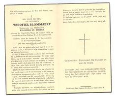 Devotie - Devotion - Theofiel Blommaert - Sint-Gillis-Waas 1873 - St-Niklaas-Waas 1956 - De Rudder - Obituary Notices