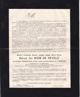 ANVERS BRASSCHAAT DONCK Ferdinand Du BOIS De NEVELE Veuf Baronne De T'SERCLAES 1844-1924 - Obituary Notices