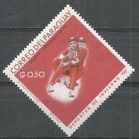 Paraguay 1966. Scott #990 (M) Winter Olympics Grenoble, 2-man Luge - Paraguay