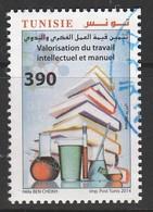 Tunisia 2014 Valuation Of Intellectual And Manual Labor 390m Multicolor SW 1836 O USED - Tunisia