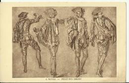 A. Watteau - Mezzetints Dansant - Peintures & Tableaux