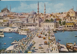 Turkey Postcard Sent To Denmark 10-12-1962 (Galata Bridge) - Türkei