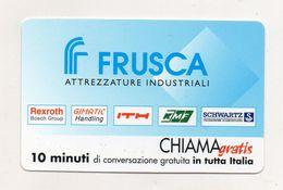 Telecom - Scheda Chiama Gratis - 2001 - FRUSCA - 10 Minuti Di Conversazione Gratuita - NUOVA - (FDC7612) - [2] Sim Cards, Prepaid & Refills