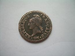 MONNAIE ..FRANCE 1 Centime L'AN ? A.. 2 Scans - 1789 – 1795 Monedas Constitucionales