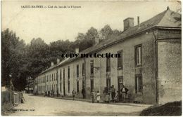 Saint Masmes, Cite Du Bas De La Filature, Alte Postkarte, Feldpost, Stempel Ob. Comm. 3. Armee 4/9 - Reims
