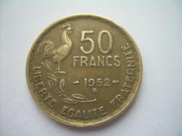 MONNAIE ..FRANCE 50 FRANCS 1952 B.. 2 Scans - France