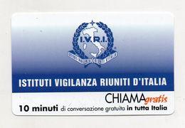 Telecom - Scheda Chiama Gratis - 2001 - I.V.R.I. - 10 Minuti Di Conversazione Gratuita - NUOVA - (FDC7613) - [2] Sim Cards, Prepaid & Refills