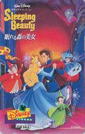 Télécarte Japon / 110-011 - DISNEY - BELLE AU BOIS DORMANT  / Danse Fée SLEEPING BEAUTY Movie Japan Phonecard Conte NFS - Disney