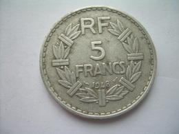 MONNAIE ..FRANCE 5 FRANCS 1948 LAVRILLIER Aluminium.. 2 Scans - France